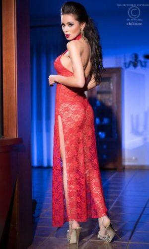 SENSUALE NEGLIGÈ RED vestaglia sexy provocante