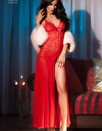 3471-red_1 abito lungo/vestaglia assia