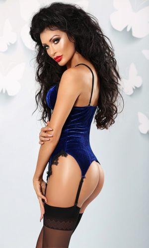 corsetto bluette velluto luxury