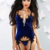 corsetto bluette velluto luxury
