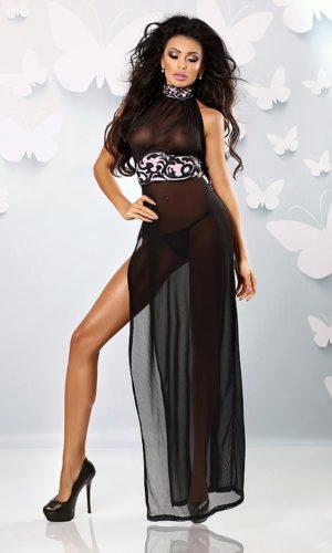 vestaglia tulle nera con cintura