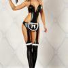 costume cameriera latex