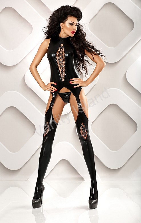 bodystocking latex tuta latex nera
