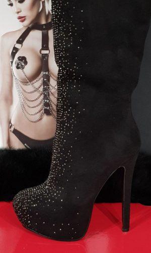 stivali lolitta sex tacco alto plateau e strass