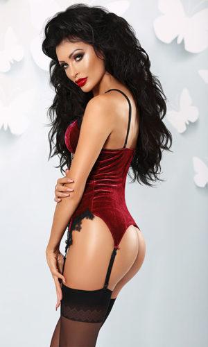 corsetto rosso velluto