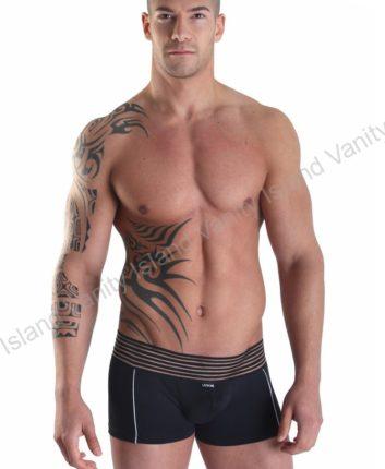 boxer lookme con elastico trasparente nero