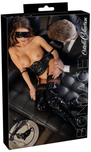 corsetto con polsini cottelli collection bondage