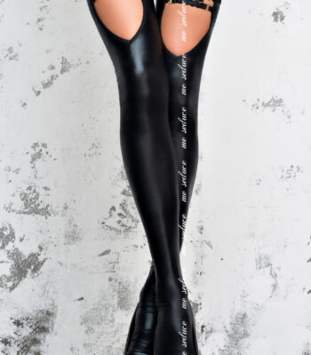 Sexy Calze in tessuto Wetlook nero Me Seduce 3