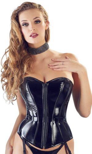corsetto in vinile balck level 1