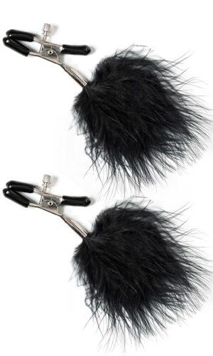 clip per seno con piume nere