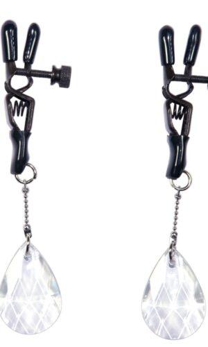 Clips/Gioiello per capezzoli con pendenti a goccia Bad Kitty