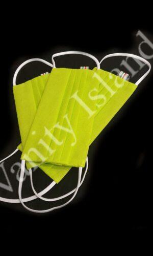 mascherina in tnt verde elettrico con tasca lavabile 1