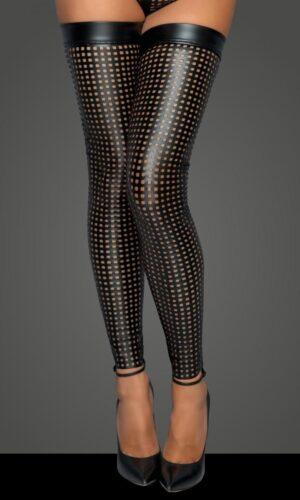 calze taglio laser F236 Noir Handmade MissBeHaved Collection