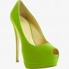 lime green high heels