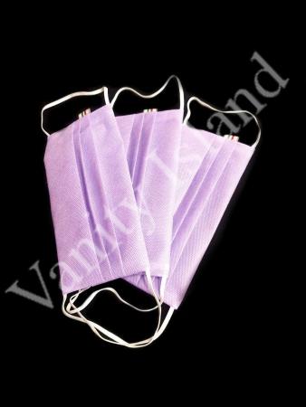 Set 3 Mascherine in TNT con tasca per filtro lavabili lilla