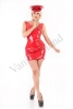 Minidress con scollatura posteriore red