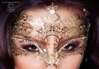 Maschera Gold Luxury filigranata  1
